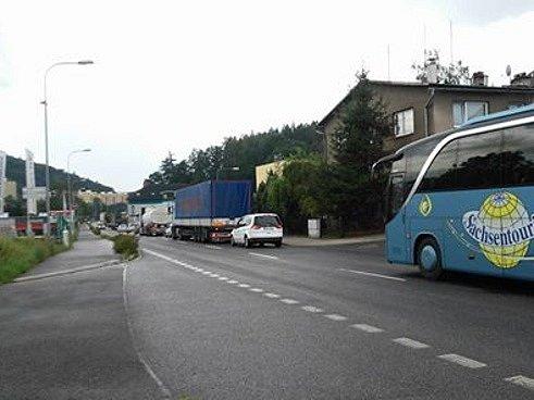 Kladská ulice v Náchodě.