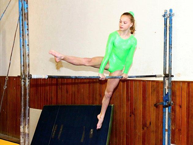 PRVNÍ místa si Barbora Ficencová vybojovala na všech nářadích gymnastiky i ve šplhu.