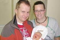 VOJTĚCH KOUTSKÝ přišel na svět 12. října 2010 v 19: 26 hodin s váhou 3850 gramů. S rodiči Helenou a Lukášem má domov v Polici nad Metují.