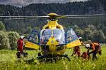 Záchrana osoby v Adršpachu.