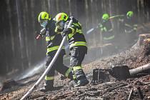 Požár u České Čermné