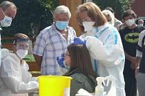 Plošné testování na koronavirus. Ilustrační foto