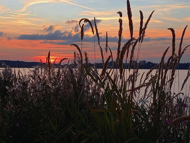 Západ slunce nad Rozkoší.
