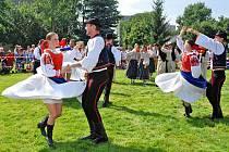 Folkorní festival v Červeném Kostelci.