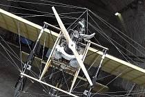 Replika jednoplošníku Blériot Jana Kašpara se v sobotu představí na letišti v Jaroměři – Josefově.