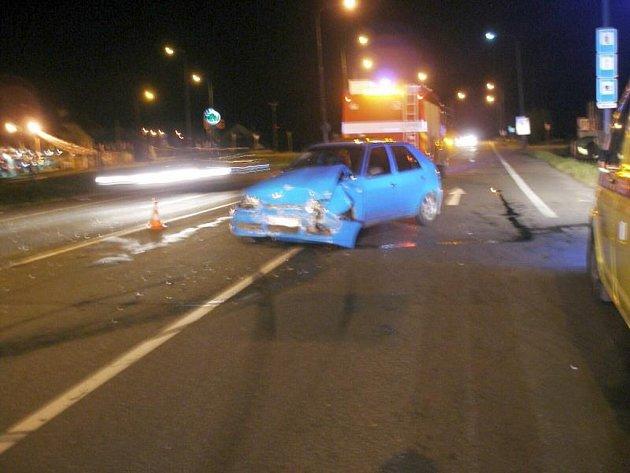 Dopravní nehoda v Jaroměři.