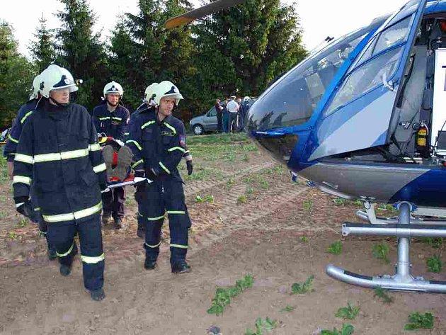 Foto z dopravní nehody.