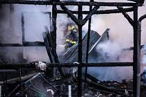Požár restaurace v Jaroměři