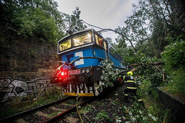 Na trati uProvodova-Šonova narazil ráno nákladní vlak do stromu na železnici, nehoda byla bez zranění.