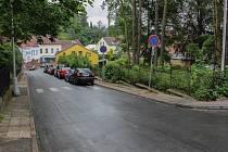 Sokolská ulice v Náchodě.