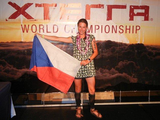 ČERVENOKOSTELECKÁ Tereza Rudolfová obsadila na Mistrovství světa  v terénním triatlonu čtvrté místo.