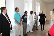 Z návštěvy hejtmana Lubomíra France v broumovské nemocnici.