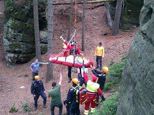 Záchranná akce v Adršpachu.