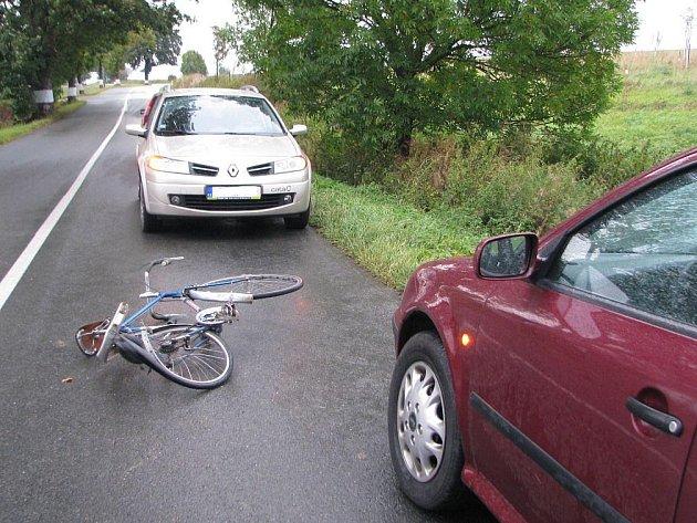 Nehoda cyklisty.