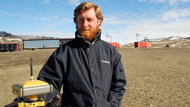 Daniel Nývlt v loni na polární stanici Johanna Gregora Mendela.