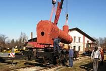 Železniční muzeum v Jaroměři dokončilo opravu kotle parní lokomotivy Conrad Vorlauf z roku 1873.