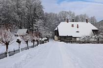 Zimní pohádka v Babiččině údolí.