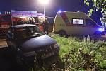 Nehoda na silnici z Bohuslavic nad Metují do Dobrušky.