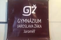 Gymnázium Jaroslava Žáka v Jaroměři.