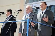 Návštěva prezidenta Miloše Zemana v Broumově.