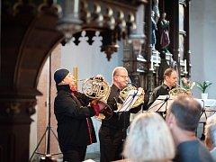 Hornový koncert si přišlo vyslechnut 273 posluchačů, kteří na dobrovolném vstupném přispěli částkou převyšující 23 tisíc korun.