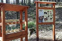 V lesoparku Montace přibyly naučné prvky.