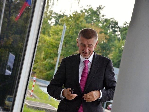 Ministr financí Andrej Babiš v Náchodě.