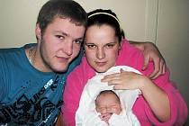 VANESA DUDADÍKOVÁ se narodila 4. 1. 2010 v 0.34 hod. s délkou 48 cm a váhou 2,55 kg. S rodiči Monikou Boháčovou a Jakubem Dudadíkem má domov v Jaroměři.