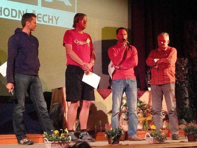 Porota 27. ročníku MHFF – zleva Stanislav Holec, Martin Karlík, Martin Heuger a Jerzy Porebski.
