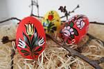 Tyto kraslice namalovala Hana Váňová z Police nad Metují. Je držitelkou certifikátu Regionální produkt Broumovsko.