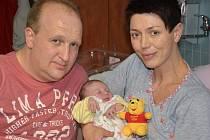 ANNA ISABELLE REITER poprvé vykoukla na svět 25. ledna 2016 v 6.32 hodin. Holčička po narození vážila 3825 gramů a měřila 50 centimetrů. S maminkou Šárkou a tatínkem Jürgenem mají domov v Náchodě.