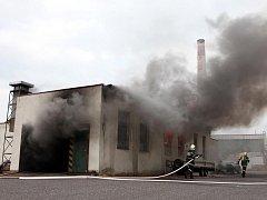 Požár v Novém Městě nad Metují.