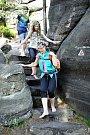 Bosá turistika v Broumovských stěnách