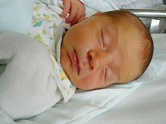 MAREK TYLŠ se narodil 19. února 2012 ve 20:07 hodin s váhou 3475 gramů a délkou 51 centimetrů. S maminkou Michaelou a s tatínkem Martinem mají domov v Náchodě.