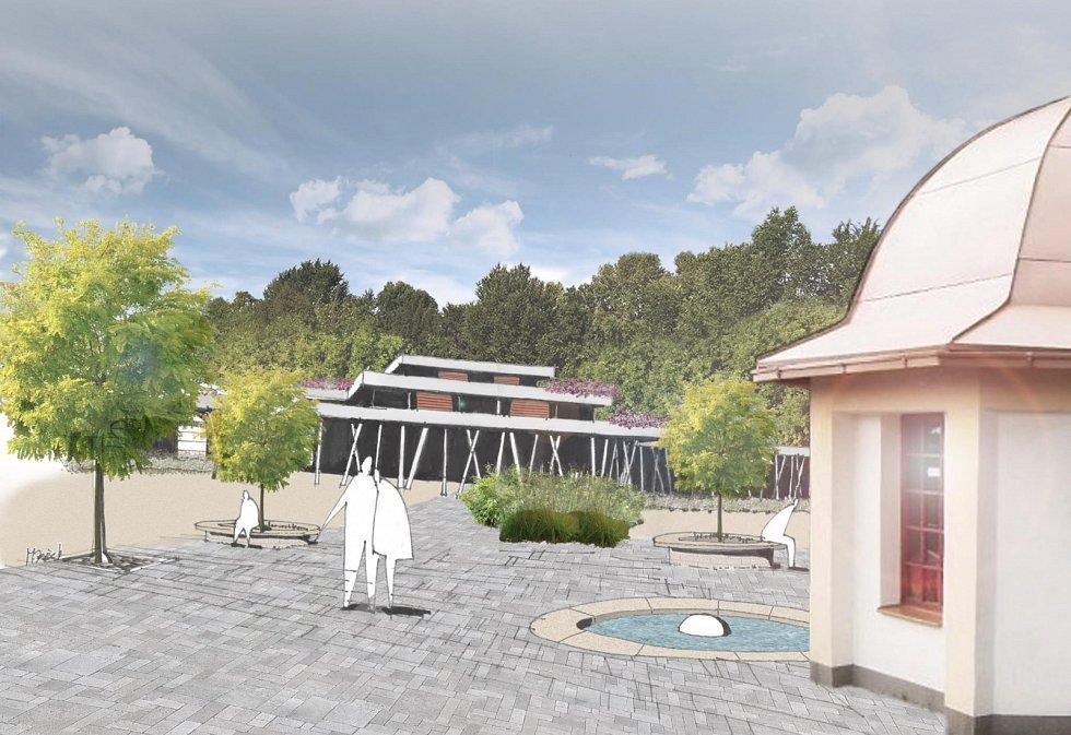 VIZUALIZACE, jak by mohly vypadat budoucí moderní Lázně Běloves. Kapacita by měla být okolo dvou set lůžek.