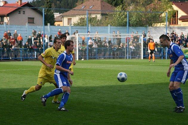 Utkání 3. kola Ondrášovka Cupu mezi domácím FK Náchod-Deštné a pražskou Spartou.