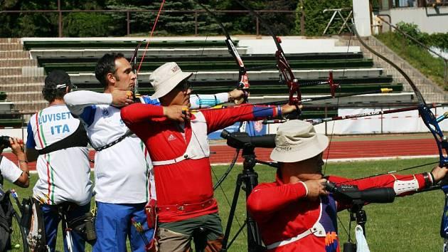 Jednou ze dvou obrovských akcí, která se v Novém Městě už tradičně pořádá, je Světový pohár v lukostřelbě handicapovaných.