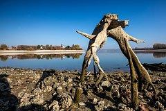 Česká Skalice, nebývalé sucho na přehradě Rozkoš