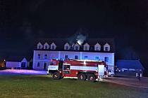 Na Broumovsku hořel dům