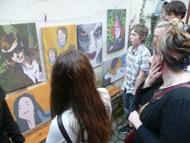 Výstava v Galerii U Mistra s palmou.