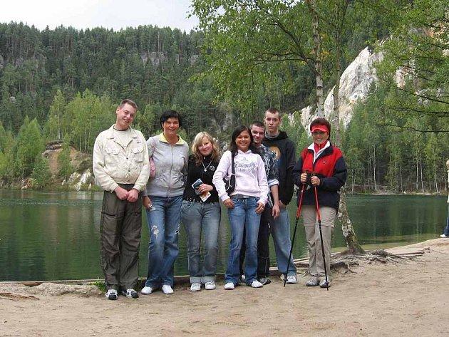 NĚMEČTÍ STUDENTI  v Náchodě poznávají nejen hotelový život, ale vyrážejí také na výlety po celém regionu.