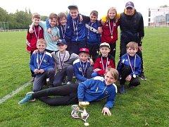 VÍTĚZEM venkovních přeborů kategorie U12 se stali hráči Okresního fotbalového svazu Náchod.