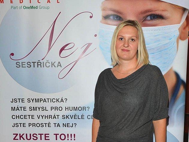 FINALISTKA soutěže Nej sestřička Eva Karásková z nemocnice v Náchodě.