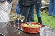 Zarážením hory symbolicky zavřeli ve vinařské obci Litoboř vinici