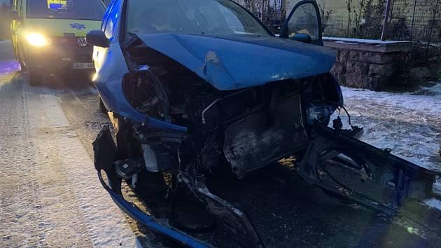 Po nehodě skončil jeden člověk v nemocnici.