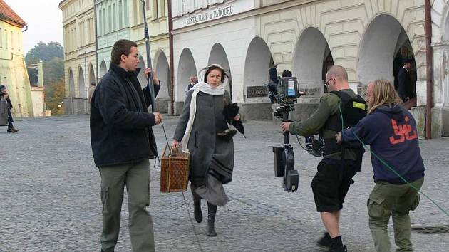 Natáčení v Novém Městě nad Metují.