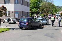 Dopravní nehoda v Hronově.