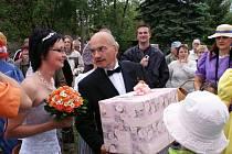 Svatba Josefa Sandtnera a Jany Stránské.