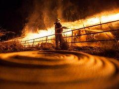 K velkému požáru skladovací haly sena v Bohuslavicích nad Metují došlo v neděli před čtvrtou hodinou ranní.