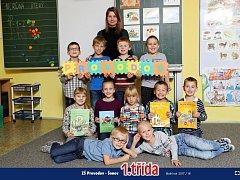 Žáci 1. třídy ze ZŠ Provodov - Šonov.